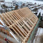 Dachstuhl Mehrfamilienhaus